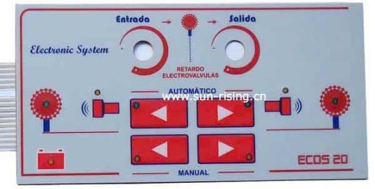 membrane switch panel.