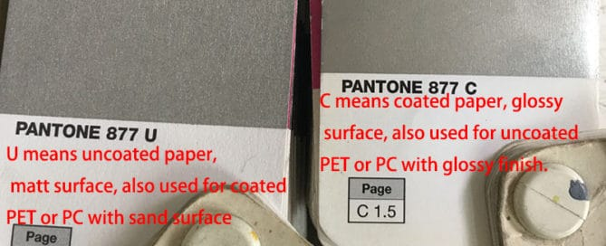 Pantone color U & C