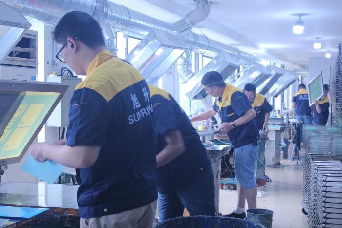 screen printing team